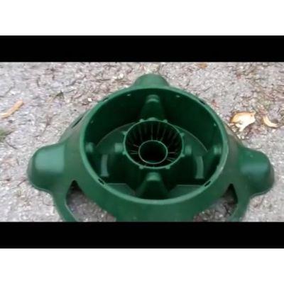 Pied de sapin réutilisable avec réserve d'eau intégrée